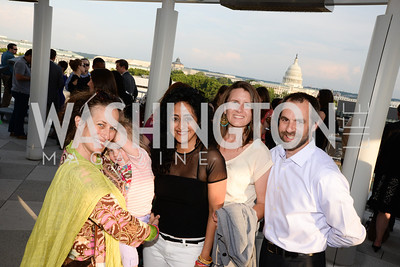 Julia Cohen, Roshan Ameli-Tehrani, Summer Colson, Johnathan Kuhn, DC Vote hosts the First Annual, Three Star Ball.  National Association of Realtors Building Rooftop, May 22, 2014.  Photo by  Ben Droz.