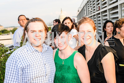 Chistopher Graham, Heather Skall, Marcella Kriebel, DC Vote hosts the First Annual, Three Star Ball.  National Association of Realtors Building Rooftop, May 22, 2014.  Photo by  Ben Droz.