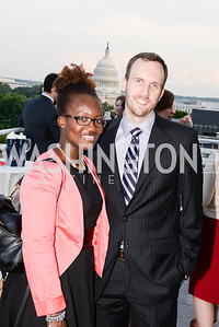 Greg Hamlin, Zaneta Hamlin, DC Vote hosts the First Annual, Three Star Ball.  National Association of Realtors Building Rooftop, May 22, 2014.  Photo by  Ben Droz.