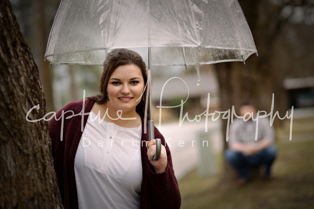 Makayla and umbrella