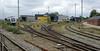 Arriva Tog [= Trains] depot, Struer, Mon 1 September 2014 - 1217.  Arriva operate a number of regional passenger services in Jutland.