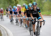 Mikel Nieve chases on the last climb, but Froome has his head down and is suffering...