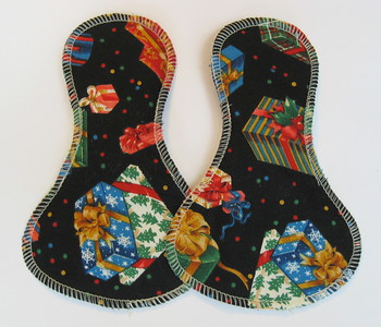 TWO Light Flow Jingle Pads - Winter Special - cotton woven print