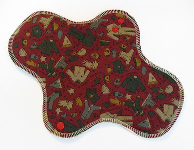 ONE Heavy Flow Wrap Wing Pad - Winter Special - cotton woven print