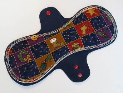 "ONE ""LONG"" Regular Flow Comfort Contour Pad - Winter Special - cotton woven print"