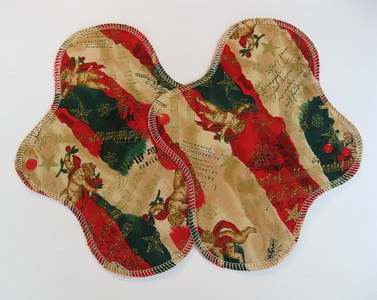 TWO Regular Flow Wrap Wing Pads - Winter Special - cotton woven print