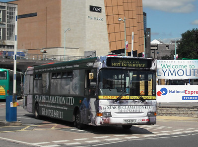34 - T134EFJ - Plymouth (Brentonside bus station) - 10.8.09