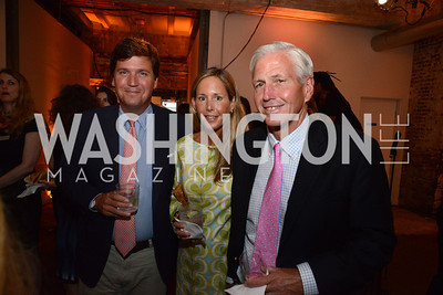 Tucker Carlson, his wife Susie Carlson and her father, George Andrews. E.L. Haynes Toast to Transformation Celebration. Long View Gallery. May 14, 2014. Photos by Neshan H. Naltchayan