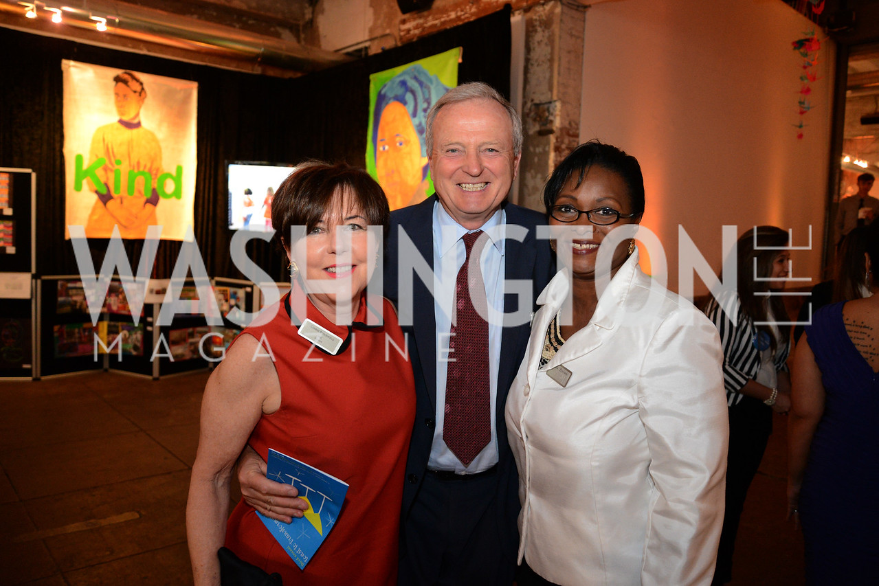 Connie Broomfield, Michael Broomfield (PNC) and Alice Barnes. E.L. Haynes Toast to Transformation Celebration. Long View Gallery. May 14, 2014. Photos by Neshan H. Naltchayan
