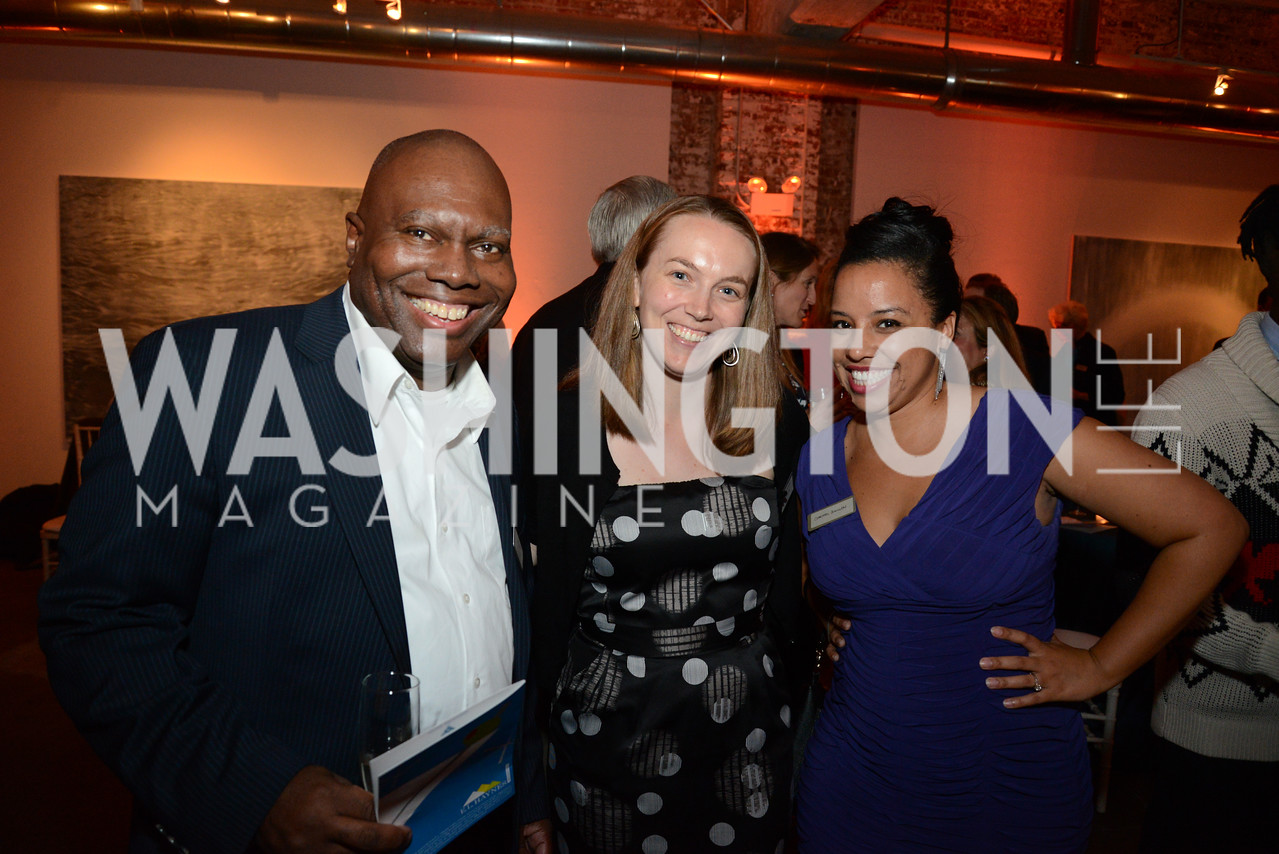 Roy Jones, Barrie Moorman and Christel Guillen. E.L. Haynes Toast to Transformation Celebration. Long View Gallery. May 14, 2014. Photos by Neshan H. Naltchayan