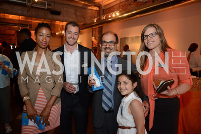 Karima Simmons, Dominic Turano, Ramon Jacobson, his daughter, Zelia Jacobson and Tania Turano. E.L. Haynes Toast to Transformation Celebration. Long View Gallery. May 14, 2014. Photos by Neshan H. Naltchayan