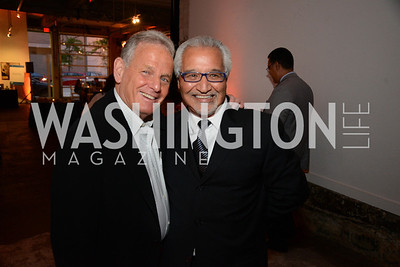 Bob Pincus (Eagle Bank ) and Honoree S. Joseph Bruno. E.L. Haynes Toast to Transformation Celebration. Long View Gallery. May 14, 2014. Photos by Neshan H. Naltchayan