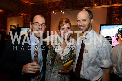 Stephen Springer, Courtney Surls and Matt Eddy.  E.L. Haynes Toast to Transformation Celebration. Long View Gallery. May 14, 2014. Photos by Neshan H. Naltchayan