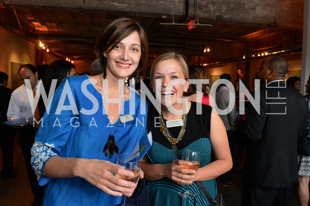 Iris Olsen and Kyna Williams. E.L. Haynes Toast to Transformation Celebration. Long View Gallery. May 14, 2014. Photos by Neshan H. Naltchayan