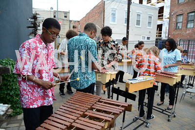 The E.L. Haynes Marimba Ensemble performs for the guests. E.L. Haynes Toast to Transformation Celebration. Long View Gallery. May 14, 2014. Photos by Neshan H. Naltchayan