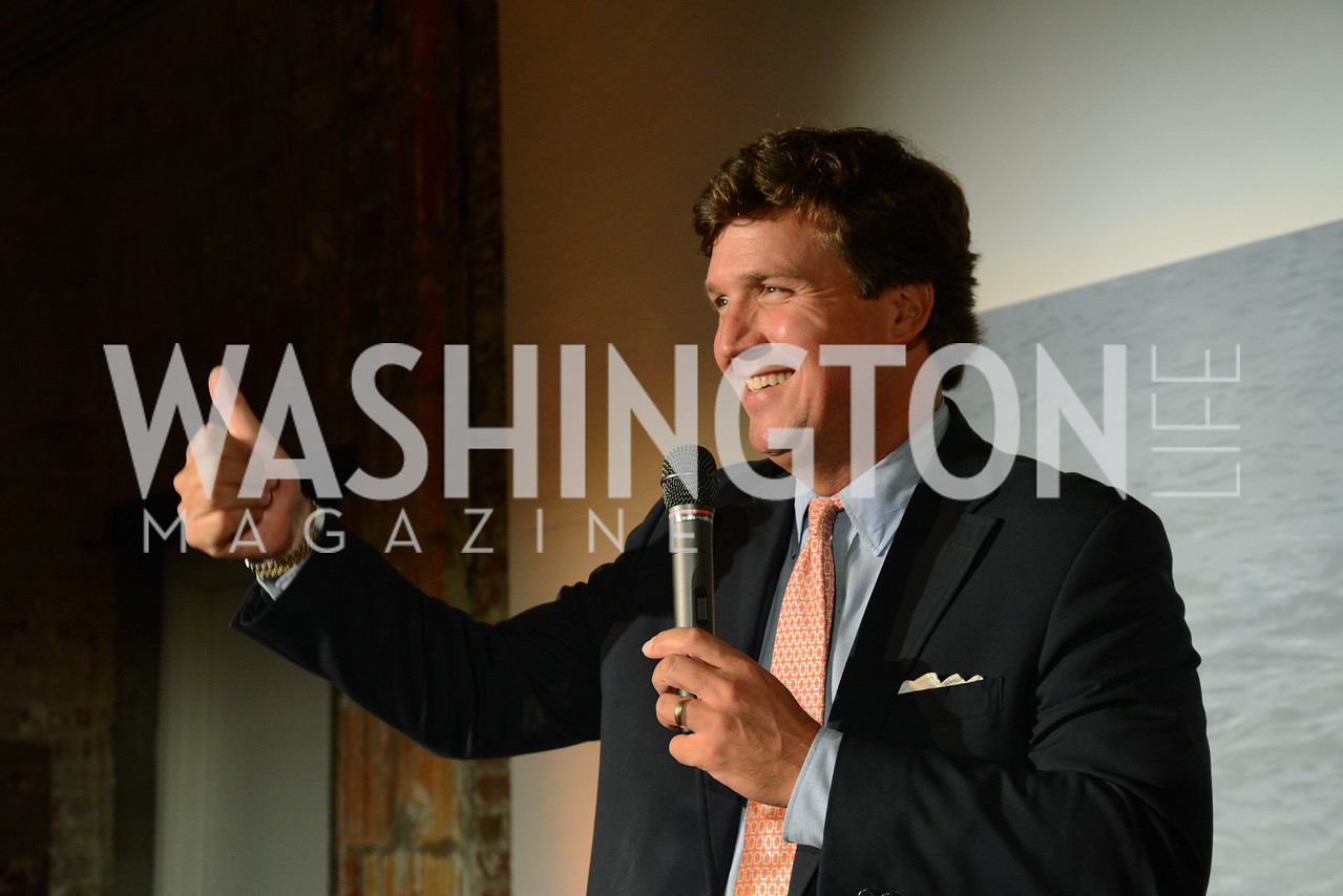 Tucker Carlson (Co-Host, FOX and Friends Weekend) E.L. Haynes Toast to Transformation Celebration. Long View Gallery. May 14, 2014. Photos by Neshan H. Naltchayan