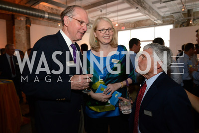 Nick Niles, Jennie Niles (Founder and Head of School) and Alan Meltzer. E.L. Haynes Toast to Transformation Celebration. Long View Gallery. May 14, 2014. Photos by Neshan H. Naltchayan