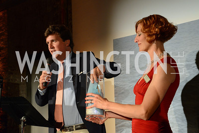 Tucker Carlson draws the raffle winners as Sharon Witting presents them. E.L. Haynes Toast to Transformation Celebration. Long View Gallery. May 14, 2014. Photos by Neshan H. Naltchayan