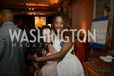 Jackelyn Mejia and Kiara Gross, (E.L. Haynes students). E.L. Haynes Toast to Transformation Celebration. Long View Gallery. May 14, 2014. Photos by Neshan H. Naltchayan