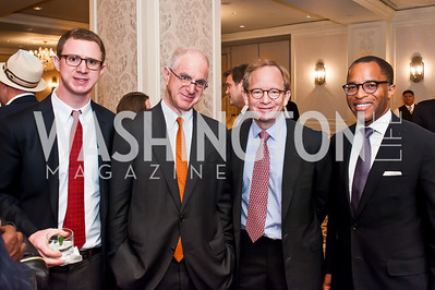 Joseph Tish, Tom Tish Steve Ratter, Jonathan Capehart. Photo by Tony Powell. Elizabeth Drew Book Signing. Madison Hotel. May 15, 2014