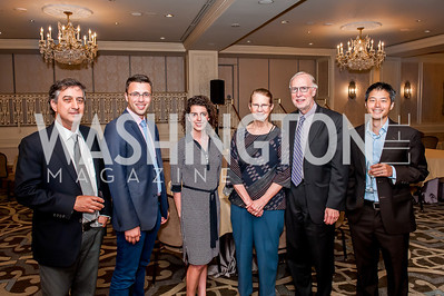 Michael Tomasky, Ezra Klein, Molly Ball, Nancy Balz, Dan Balz, David Kihara. Photo by Tony Powell. Elizabeth Drew Book Signing. Madison Hotel. May 15, 2014