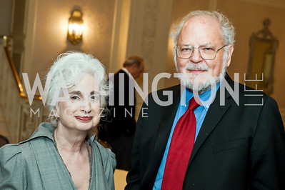 Judith and Robert Martin. Photo by Tony Powell. Elizabeth Drew Book Signing. Madison Hotel. May 15, 2014