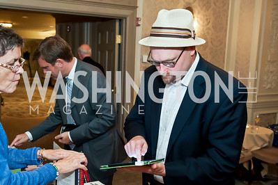 Glenn Thrush. Photo by Tony Powell. Elizabeth Drew Book Signing. Madison Hotel. May 15, 2014