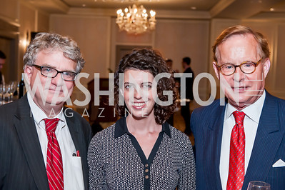 David Jackson, Molly Ball, Michael Mosettig. Photo by Tony Powell. Elizabeth Drew Book Signing. Madison Hotel. May 15, 2014