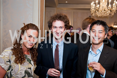 Megan Garber, David Graham, David Kiahara. Photo by Tony Powell. Elizabeth Drew Book Signing. Madison Hotel. May 15, 2014