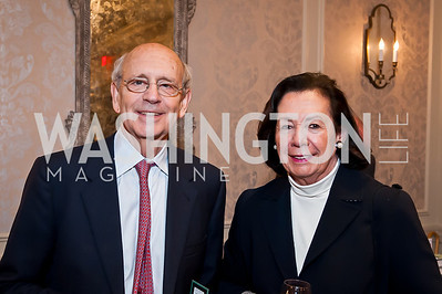 Justice Steven Breyer, Ann Jordan. Photo by Tony Powell. Elizabeth Drew Book Signing. Madison Hotel. May 15, 2014