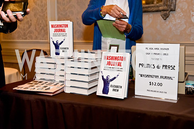 Photo by Tony Powell. Elizabeth Drew Book Signing. Madison Hotel. May 15, 2014