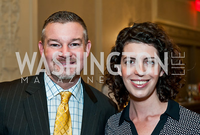 Scott Button, Molly Ball. Photo by Tony Powell. Elizabeth Drew Book Signing. Madison Hotel. May 15, 2014