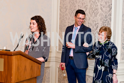 Molly Ball, Ezra Klein, Elizabeth Drew. Photo by Tony Powell. Elizabeth Drew Book Signing. Madison Hotel. May 15, 2014