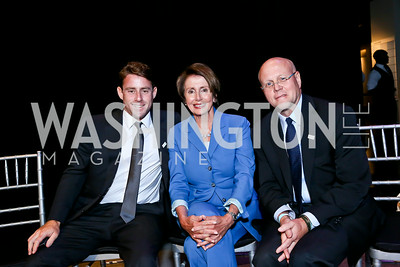 Jake Glaser, Leader Nancy Pelosi, EGPAF President and Chief Executive Officer Charles Lyons. Photo by Tony Powell. EGPAF 25th Anniversary Celebration. Newseum. June 24, 2014
