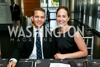 Nain Agha, Ariel Metzger. Photo by Tony Powell. EGPAF 25th Anniversary Celebration. Newseum. June 24, 2014