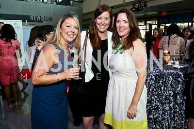 Sarah Lucas, Katie O'Dowd, Katherine Warminsky. Photo by Tony Powell. EGPAF 25th Anniversary Celebration. Newseum. June 24, 2014