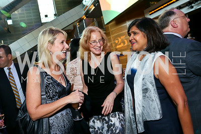 Gwynn Stevens, Lynne Mofenson, Dr. Deborah Persaud. Photo by Tony Powell. EGPAF 25th Anniversary Celebration. Newseum. June 24, 2014