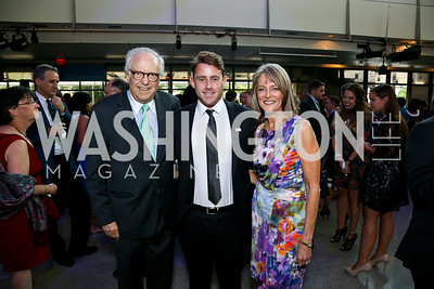 Bob Barnett, Jake Glaser, Rita Braver. Photo by Tony Powell. EGPAF 25th Anniversary Celebration. Newseum. June 24, 2014