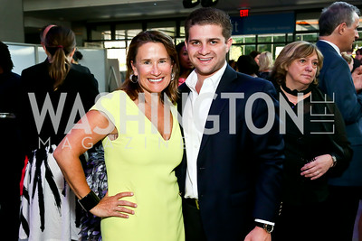 Susan Lacz, Nathan Gersten. Photo by Tony Powell. EGPAF 25th Anniversary Celebration. Newseum. June 24, 2014