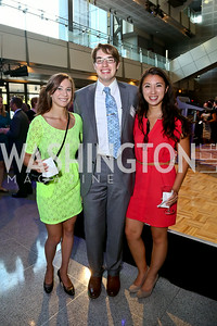 Anna Iofin, John Pratt, Christina Scaduto. Photo by Tony Powell. EGPAF 25th Anniversary Celebration. Newseum. June 24, 2014