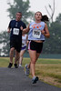 The first female to cross the finish line at the Elkridge Elementary Elkster 5K
