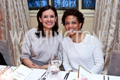 Maria Teresa Kumar, Melodie Barnes. Photo by Tony Powell. Elle Women in Washington 2014 Power List. Villa Firenze. March 25, 2014