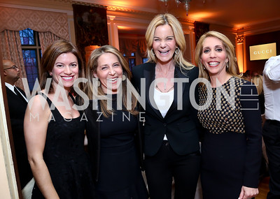 Giovanna Gray Lockhart, Jessica Yellin, Susanna Quinn, Dana Bash. Photo by Tony Powell. Elle Women in Washington 2014 Power List. Villa Firenze. March 25, 2014