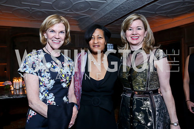 Susan Brophy, Cheryl Mills, Mary Streett. Photo by Tony Powell. Elle Women in Washington 2014 Power List. Villa Firenze. March 25, 2014