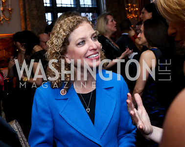 Rep. Debbie Wasserman Schultz. Photo by Tony Powell. Elle Women in Washington 2014 Power List. Villa Firenze. March 25, 2014