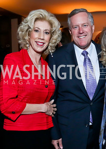 Debbie Meadows and Rep. Mark Meadows. Photo by Tony Powell. Elle Women in Washington 2014 Power List. Villa Firenze. March 25, 2014