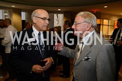 Steven Shulman and Charlie Brotman. Embassy Chef Challenge. Ronald Reagan Building. May 15, 2014. Photo by Neshan H. Naltchayan