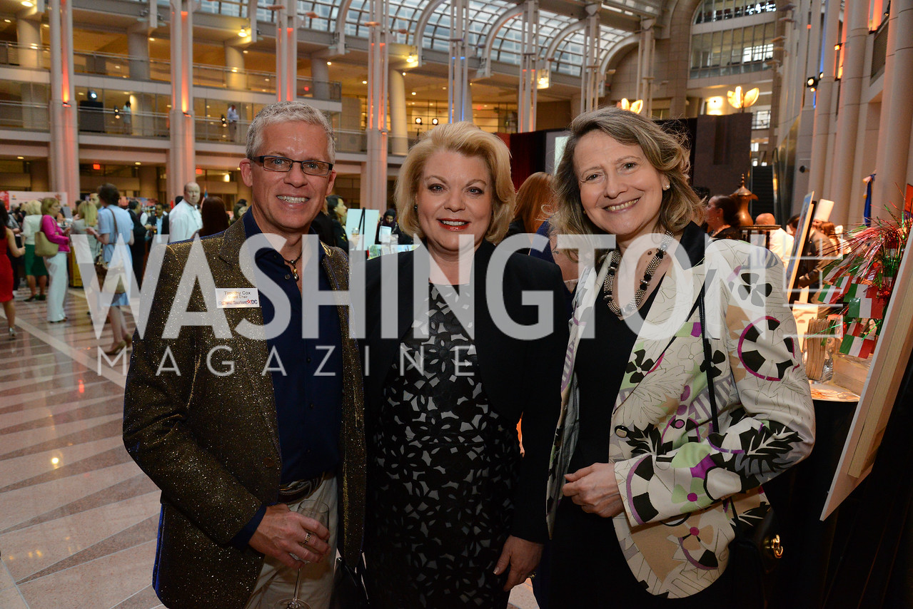 Timothy Cox, Sharon Casey and Mrs. Laura Denise Bisogniero. Embassy Chef Challenge. Ronald Reagan Building. May 15, 2014. Photo by Neshan H. Naltchayan