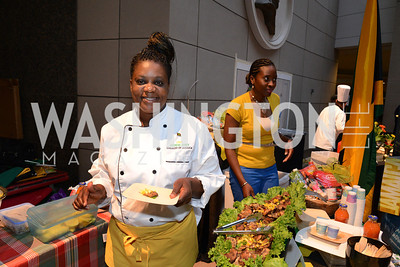 Chef Sherene James of the Embassy of Jamaica. Embassy Chef Challenge. Ronald Reagan Building. May 15, 2014. Photo by Neshan H. Naltchayan
