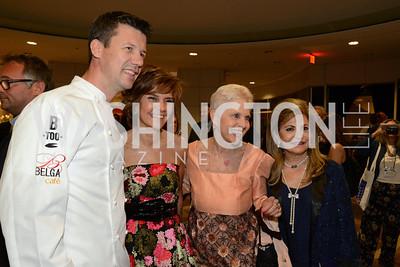 Chef Bart Vandaele, Capricia Marshall. Jan Du Plain and Annie Totah. Embassy Chef Challenge. Ronald Reagan Building. May 15, 2014. Photo by Neshan H. Naltchayan